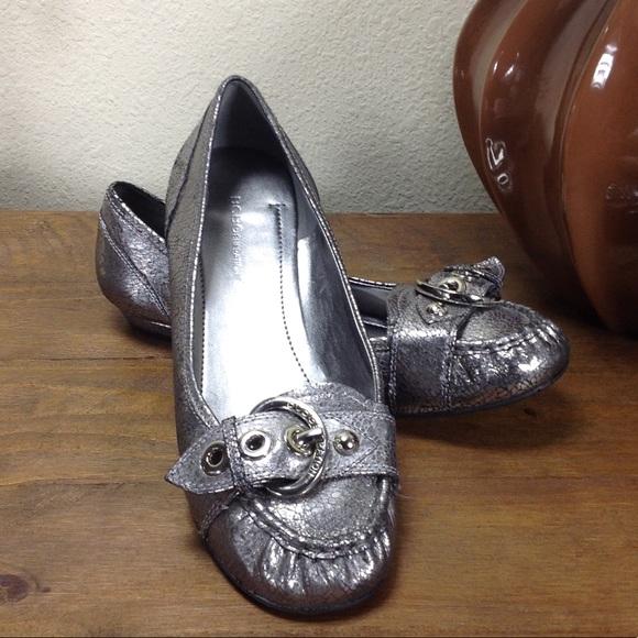 de5c8ba0b6d BCBGeneration Shoes - BCBGeneration Silver Round Toe Flat Loafers